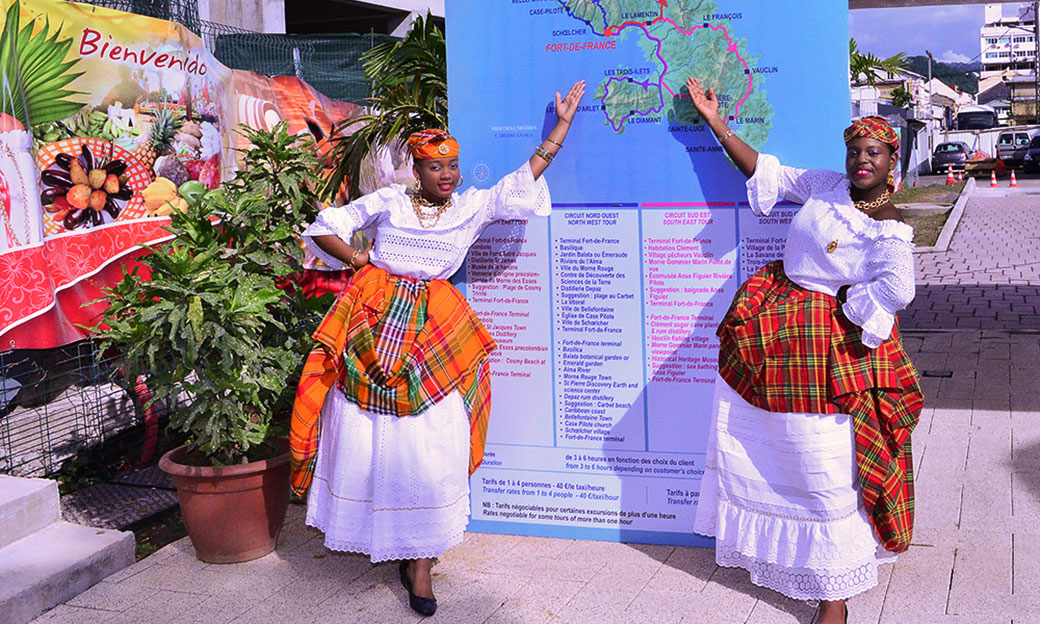 2 hostesses at the tourist information office in Fort-de-France Martinique