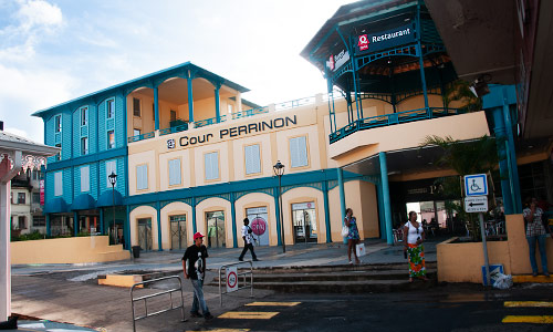 Shopping center Cour Perrinon in Downtown Fort-de-France Martinique