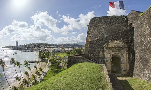 Saint-Louis Fort in Fort-de-France Martinique